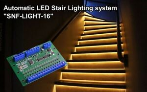 Automatic LED Stair Lighting system. For automatic illumination of stair steps