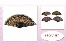 Leopard All Countries Style Folding Hand Fan Wedding Party Dance