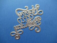NEW Swirly Happy Birthday Words Metal Craft Cutting Die