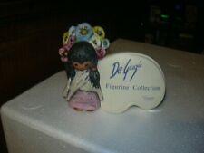 Vintage 1983 De Grazia Flower Girl 59 025 Figurine Collection Sign Goebel Plaque