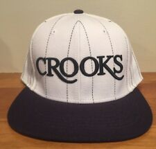 Crooks and Castles White Pinstripe Snapback Hat Cap