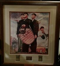 Norman Rockwell Print - Bottom of the Sixth - Includes USPS Stmaps
