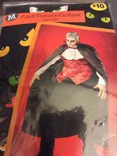 Mens Adult Dracula Halloween Costume One Size Brand New Cape Waistcoat Ruffle