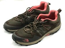 The North Face brown pink Womens Ladies trail hiking athletic tennis Shoes 10 41
