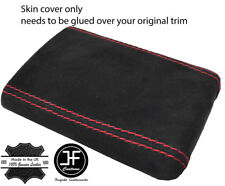 RED STITCHING REAL SUEDE ARMREST COVER FITS SUBARU IMPREZA WRX STI 2001-2004