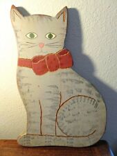 Vintage Folk Art/ Primitive Cat Wall Art. Beaver Creek, Beaman IA