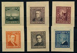 Österreich LOKALAUSGABE 1924 LINZ, Ohne Aufdruck! Satz, PROBEDRUCK! Ohne Gummi!