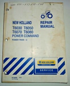 """New Holland T6030 T6050 T6070 T6080 Tractor """"POWER TRAIN"""" Service Repair Manual"""