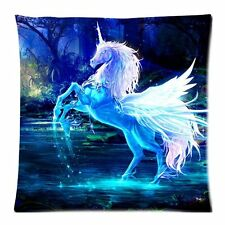 sparkling crystal unicorn Custom Zippered Cushion Covers Pillow Cases 18x18 Inch