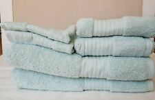 NWT Ralph Lauren Soft Blue Bath Hand Wash Towels Cloth Greenwich Cotton 6Pc Set