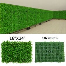 10/20 Artificial Grass Fence Panel Eucalyptus Privacy Fence Mat Wall Hedge Decor