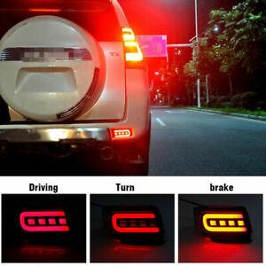 LED Rear Bumper Reflector Brake Turn Signal Light For Toyota Land Cruiser Prado