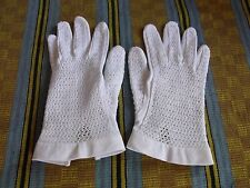 GANTS N02 FEMME COTON NEYRET T6,5 VINTAGE 50 60 WOMAN WHITE COTTON GLOVES sz S
