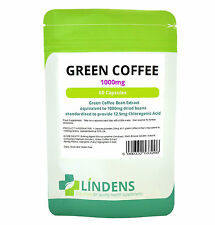 Green Coffee Bean Extract 1000mg, 60 Diet Pills Fat Burner, Natural Weight Loss