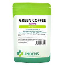 Green Coffee Bean Extract 1000mg, 60 Dieta Pastillas Quemador De Grasa, Natural pérdida de peso