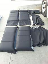 BMW 635CSI E24 87-89 L6 SPORT SEAT KIT BLACK GERMAN VINYL UPHOLSTERY KITS NEW
