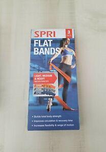 Exercise Resistance Bands SPRI Flat Band Kit 3 pack (Light, Medium, Heavy), 0011