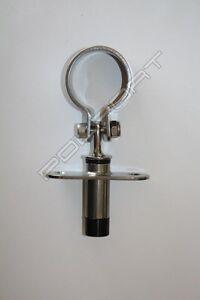 """Stainless Steel Oarlocks with socket Oar Locks High Quality 6"""" 155mm diameter 45"""