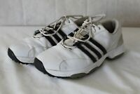MENS GOLF SHOES ADIDAS BRAND SIZE 7.5 WHITE WITH BLACK STRIPS