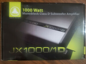 JL Audio JX1000/1 Mono subwoofer amplifier — 1,000 watts RMS x 1 at 2 ohms