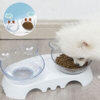 Haustier Dual Futternapf Hundenapf Katzennapf Schräge Schüssel für Kleine Hunde