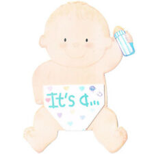 BABY SHOWER It's a Boy BIRTH ANNOUNCEMENTS (8) ~ Party Supplies Gender Reveal