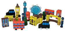 WOODEN LONDON IN A BAG PLAYSET PAINTED GREAT GIFT INC LONDON BRIDGE