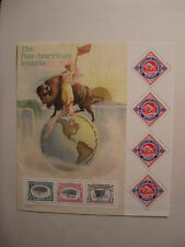 United States Scott  3505 2001 Pan American Inverts Souvenir Sheet Mint NH