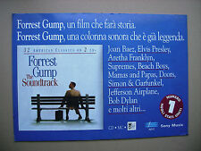 FORREST GUMP THE SOUNDTRACK CARTONATO PUBBLICITARIO DISPLAY CM. 48 X 68