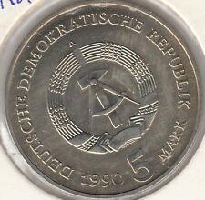 Coin 1990 Deutsches Democratic Republik Germany 5 mark choice condition, scarce
