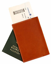 Genuine leather passport holder case MochaBrown cover wallet card protect travel