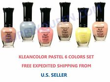 Kleancolor Dainty Pastel Nail Polish Collection Lot of 6 Colors Set Lacquer