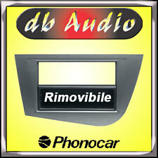 Phonocar 3/340 Mascherina 1 2 DIN Seat Leon Grigio Adattatore Cornice Radio