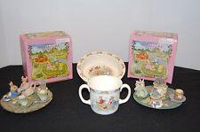 Royal Doulton BunnyKin Bowl & Cup & 2 Childs Miniature Tea Sets