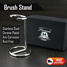 SHAVING BRUSH STAND MADE WITH STAINLESS STEEL - CHROME FINISH> PERFECT FOR ALL