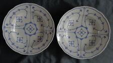 BLAU SAKS 2x geschulpte diep soep bord 24cm deep soup plate assiette Teller old