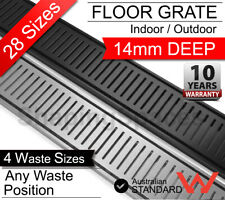 300mm - 3 meter LAUXES NXT14 Slim Strip Shower Grate waste Drain Linear Bathroom