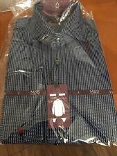 "Mans Shirt 14.5"" Neck. Brand New & Tags. Navy Mix. Luxury Shirt. Cotton."