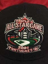 Cap RARE TRIPLE A ALL STAR GAME '04 Pawtucket RI. International League Black Hat