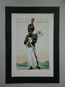 VINTAGE MILITARY PRINT-NAPOLEON'S SOLDIERS-SAPPER CHASSEURS OF THE FOOT GUARD