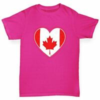 Twisted Envy Canada Heart Girl's Funny T-Shirt