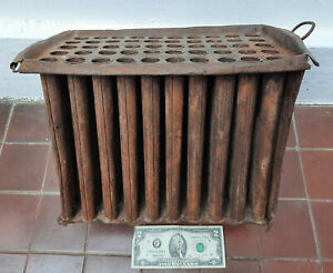 Antique massive 19th C. Primitive metal Tin Iron Candle Mold with 50 Holes