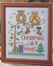 *Christmas Is A Hoot To Stitch - Pattern Only*Cross Stitch Pattern*