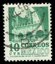 Scott # 876 - 1954 - ' Convent, Morelos ', Redrawn