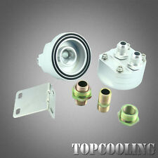 Universal AN8 Oil Filter Relocation Sandwich Fitting Adapter Kit M20*1.5 3/4-16