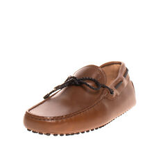 RRP €430 TOD'S Leather Moccasins EU 39.5 UK 6 US 7 Rubber Pebbles Made in Italy