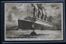 WHITE STAR LINE RMS OLYMPIC POSTED ONBOARD WALTER THOMAS ORIGINAL POST CARD