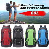 60L Outdoor Sports Travel Bag Large Capacity Waterproof Student Bag School E3K3