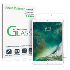 iPad Pro 10.5 Inch amFilm Case Friendly Tempered Glass Screen Protector (1 Pack)