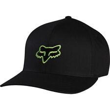 Fox Racing Héritage Flexfit Chapeau Bonnet Homme Unisexe Noir Vert 58225-151 Blk/Grn
